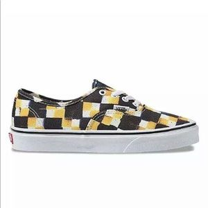 Vans Authentic Double Check Sailor Blue Yolk Yello